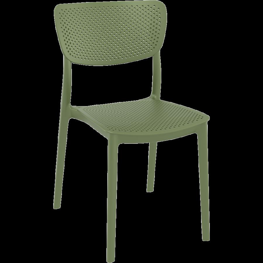 Tuinstoel - Stapelbaar - Olijf Groen - Lucy - Siesta-1