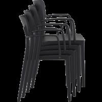 thumb-Tuinstoel - Stapelbaar - Zwart - Lisa - Siesta-9