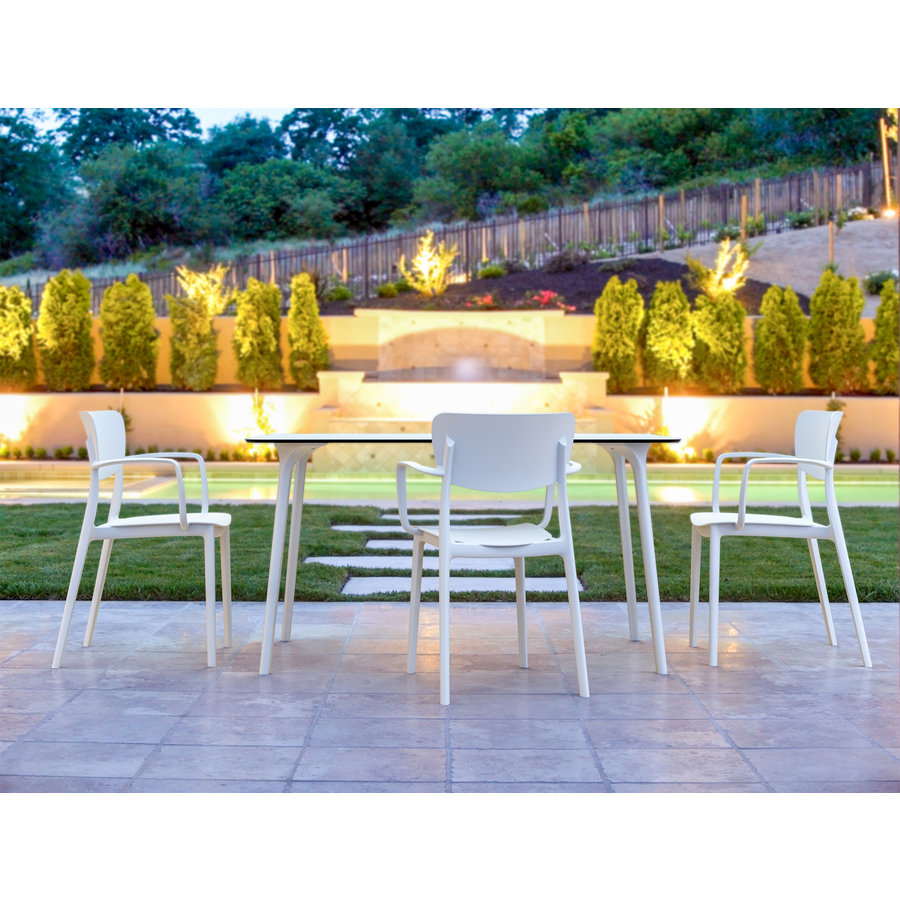 Tuinstoel - Stapelbaar - Wit - Lisa - Siesta-3