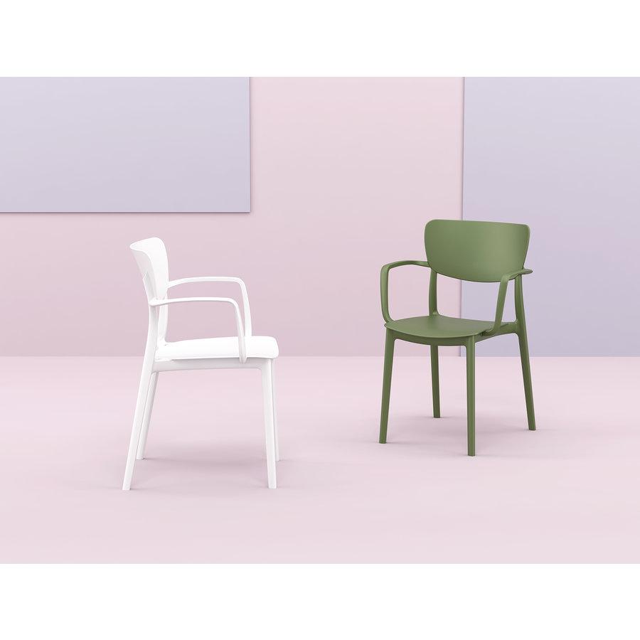 Tuinstoel - Stapelbaar - Wit - Lisa - Siesta-8