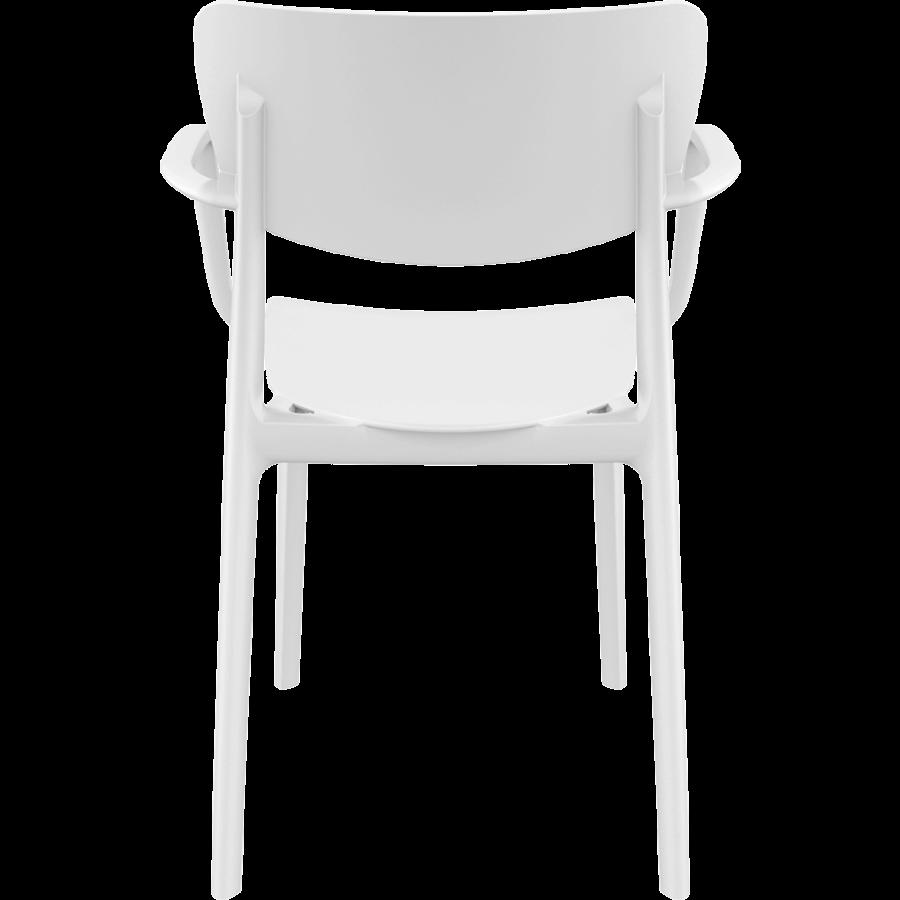 Tuinstoel - Stapelbaar - Wit - Lisa - Siesta-5