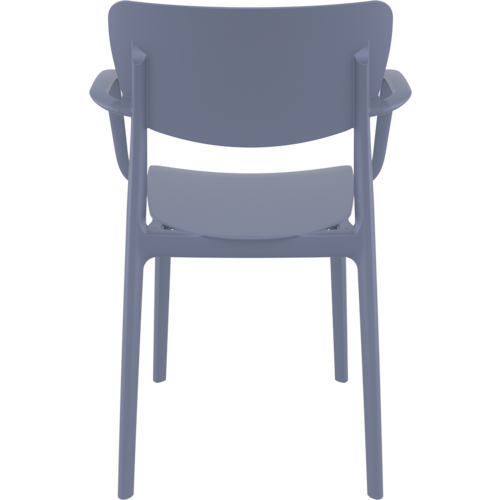 Siesta  Tuinstoel - Stapelbaar - Donkergrijs - Lisa - Siesta