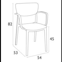 thumb-Tuinstoel - Stapelbaar - Donkergrijs - Lisa - Siesta-10