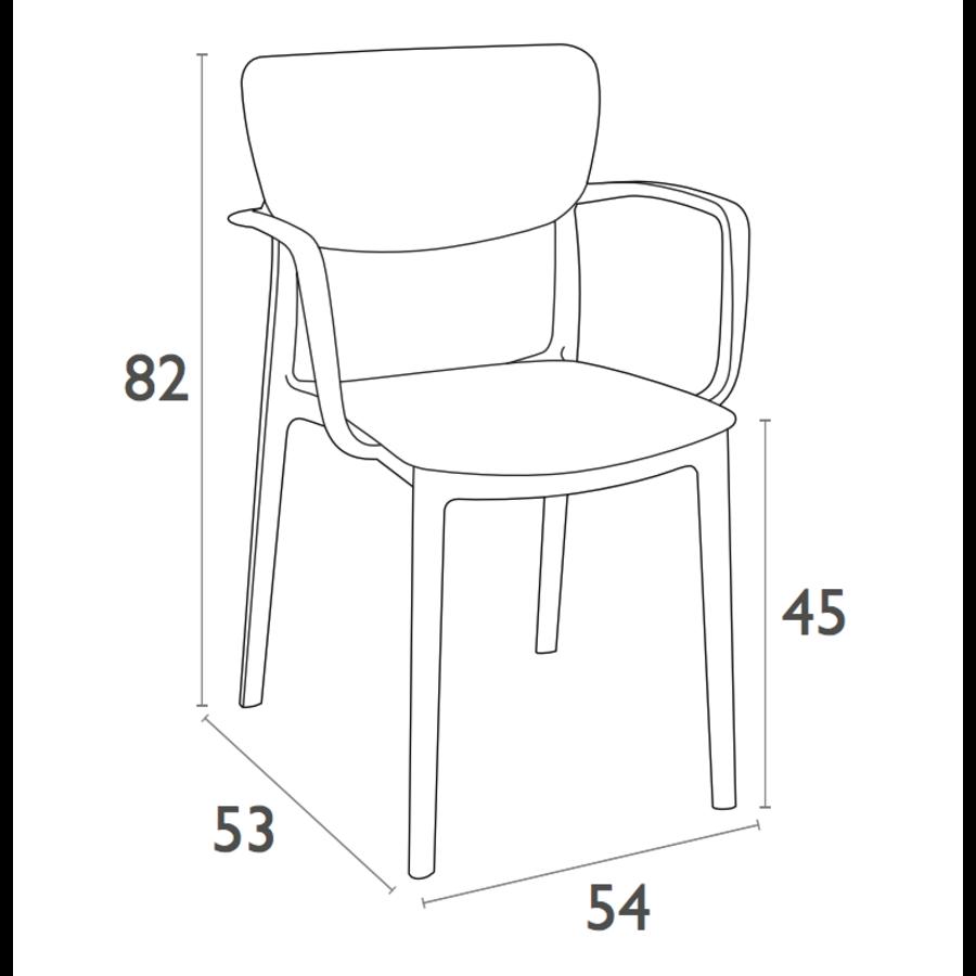 Tuinstoel - Stapelbaar - Donkergrijs - Lisa - Siesta-10