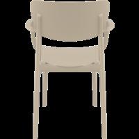 thumb-Tuinstoel - Stapelbaar - Taupe - Lisa - Siesta-5