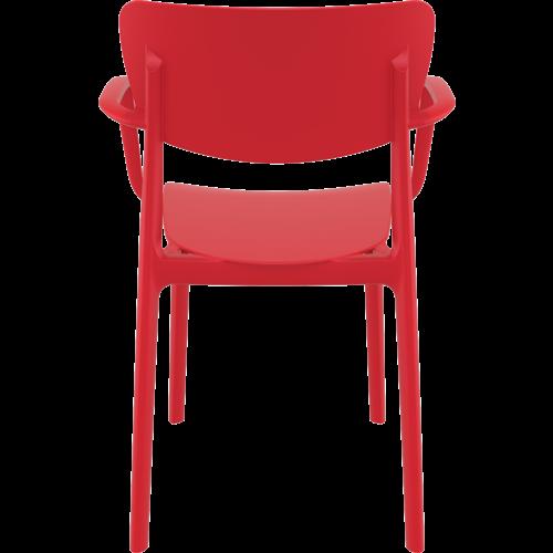 Siesta  Tuinstoel - Stapelbaar - Rood - Lisa - Siesta