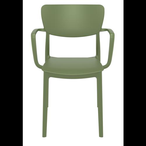 Siesta  Tuinstoel - Stapelbaar - Olijf Groen - Lisa - Siesta