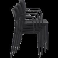 thumb-Tuinstoel - Stapelbaar - Zwart - Loft - Siesta-8