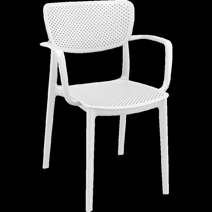 Tuinstoel - Stapelbaar - Wit - Loft - Siesta-1