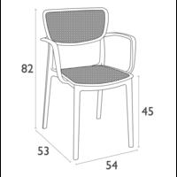thumb-Tuinstoel - Stapelbaar - Donkergrijs - Loft - Siesta-10