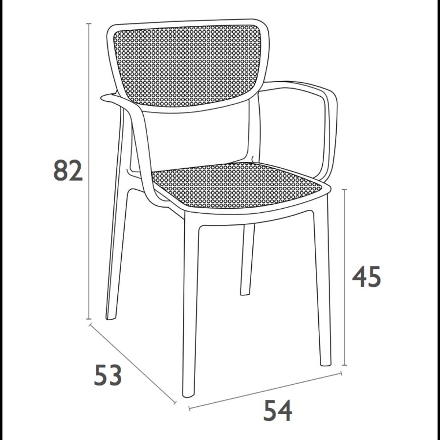 Tuinstoel - Stapelbaar - Taupe - Loft - Siesta-10