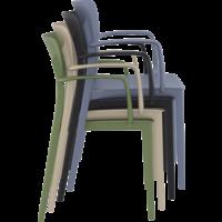 thumb-Tuinstoel - Stapelbaar - Taupe - Loft - Siesta-9