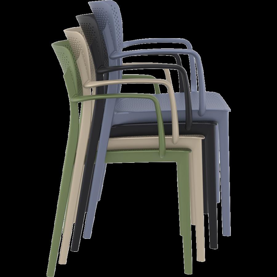 Tuinstoel - Stapelbaar - Taupe - Loft - Siesta-9
