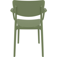 thumb-Tuinstoel - Stapelbaar - Olijf Groen - Loft - Siesta-6