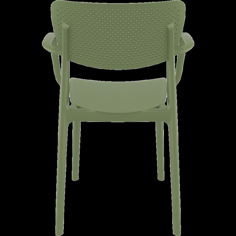 Tuinstoel - Stapelbaar - Olijf Groen - Loft - Siesta-6