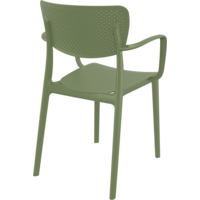 thumb-Tuinstoel - Stapelbaar - Olijf Groen - Loft - Siesta-7
