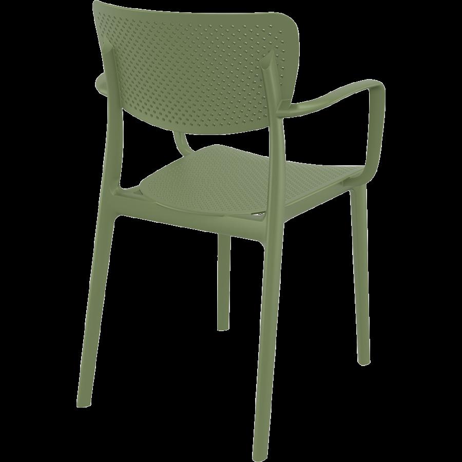 Tuinstoel - Stapelbaar - Olijf Groen - Loft - Siesta-7