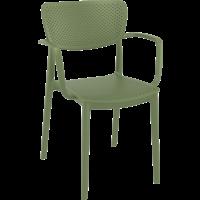 thumb-Tuinstoel - Stapelbaar - Olijf Groen - Loft - Siesta-1
