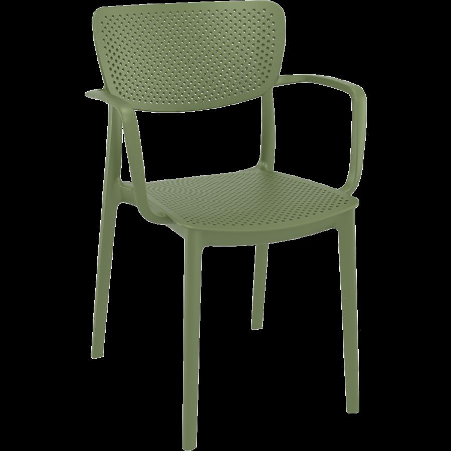 Tuinstoel - Stapelbaar - Olijf Groen - Loft - Siesta-1