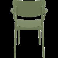 thumb-Tuinstoel - Stapelbaar - Olijf Groen - Loft - Siesta-8