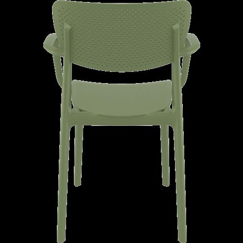 Siesta  Tuinstoel - Stapelbaar - Olijf Groen - Loft - Siesta