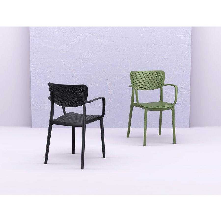 Tuinstoel - Stapelbaar - Olijf Groen - Loft - Siesta-3