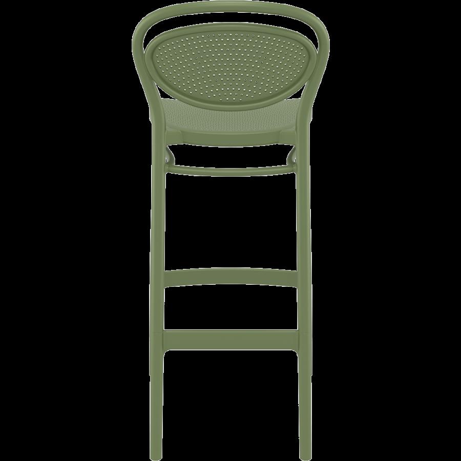 Barkruk - 75 cm - Marcel - Olijf Groen - Siesta-5
