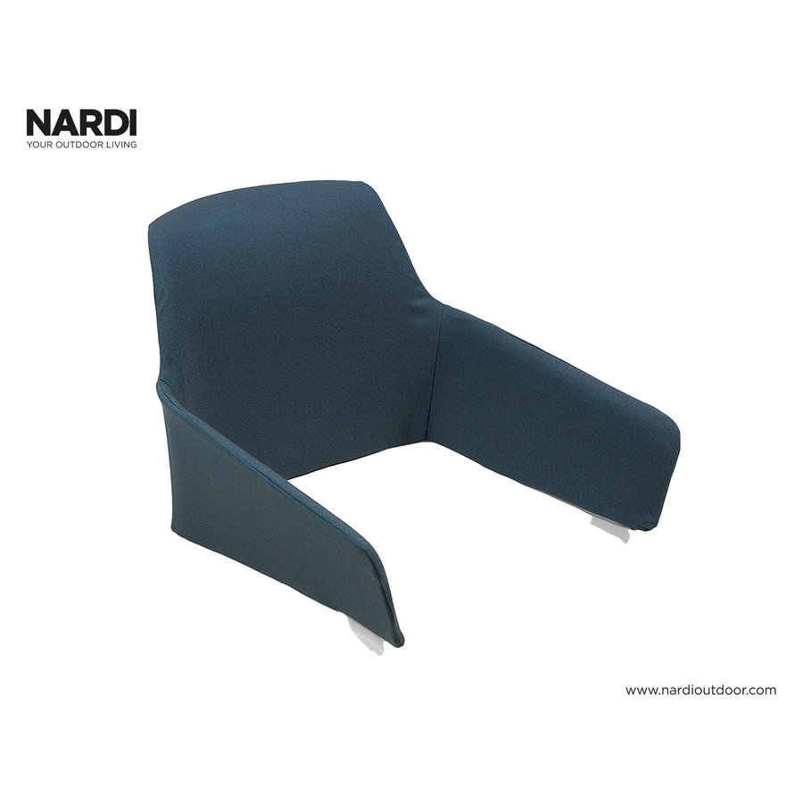 Tuinstoelkussen - Shell Net Relax - Blauw - Denim - Nardi-1