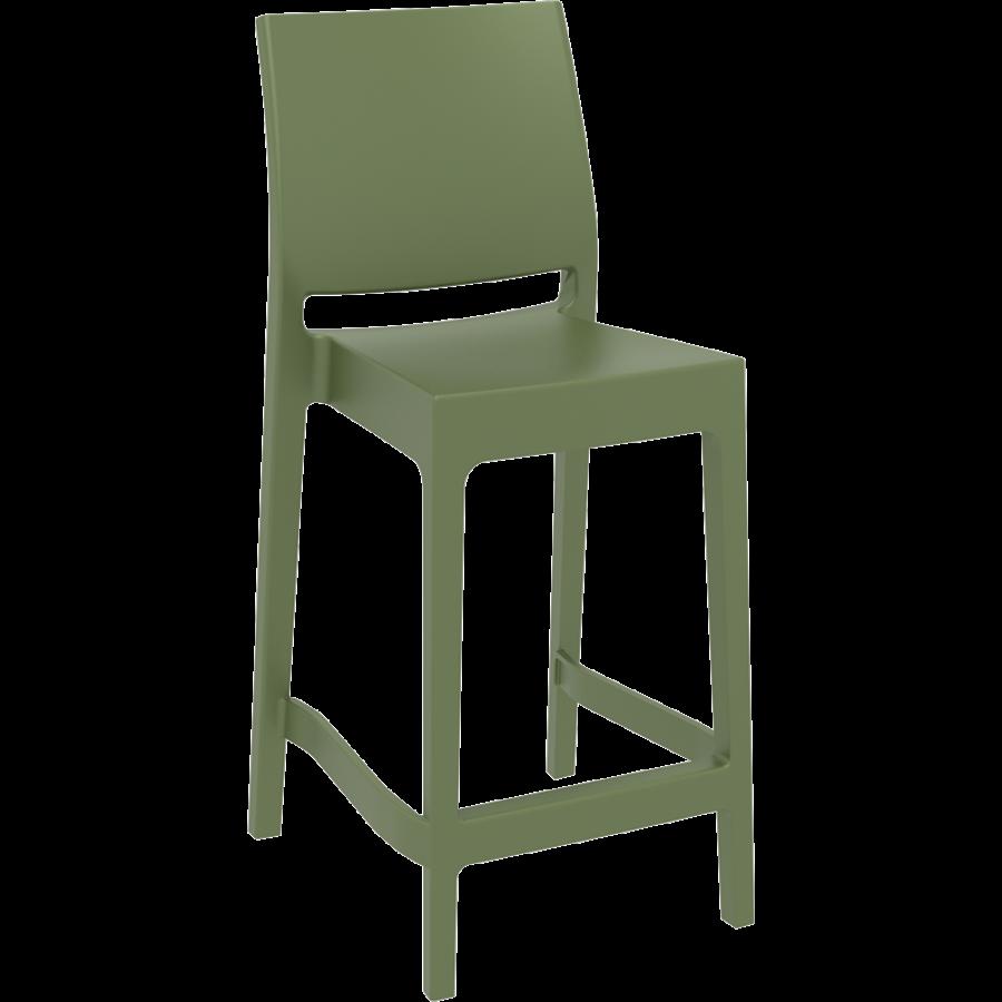 Counter Barkruk - 65 cm - Maya - Olijf Groen - Siesta-1