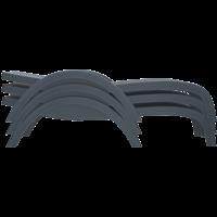 thumb-Ligbed - Fiji - Wit - Stapelbaar - Verstelbare leuning - Siesta-8