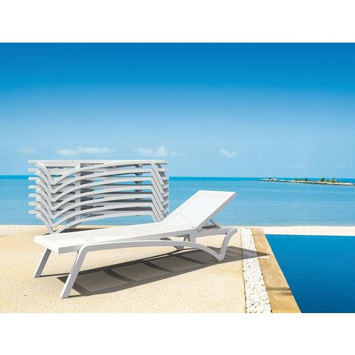 Siesta Exclusive Ligbed - Pacific - Wit - Turquoise - Stapelbaar - Verstelbaar - Siesta