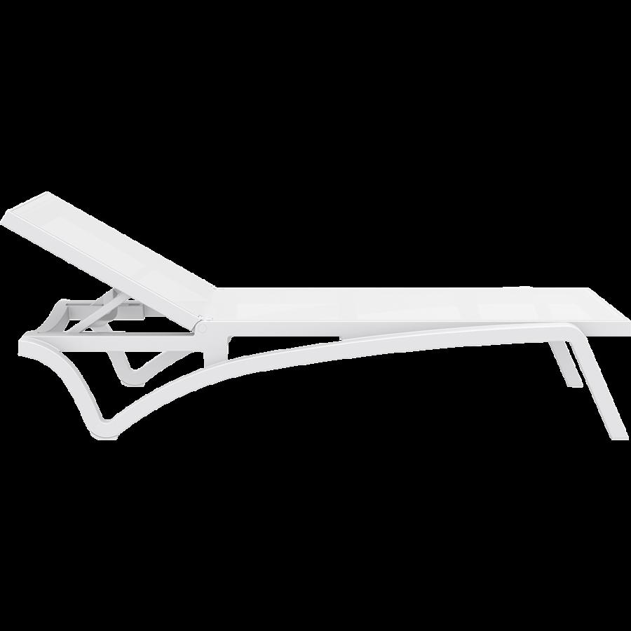 Ligbed - Pacific - Wit - Stapelbaar - Verstelbaar - Siesta-3