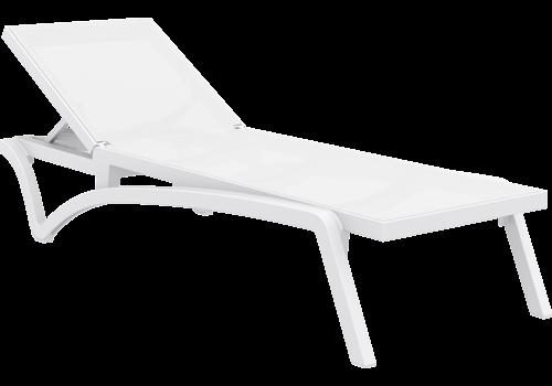Ligbed - Pacific - Wit - Stapelbaar - Verstelbaar - Siesta