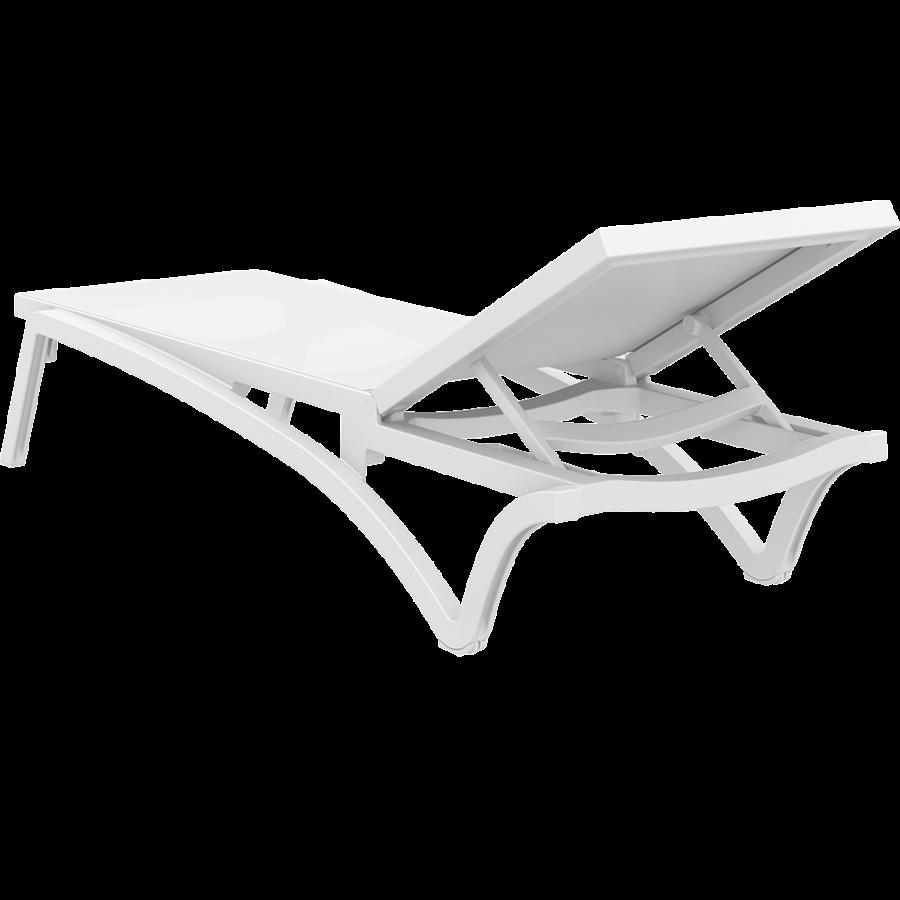 Ligbed - Pacific - Wit - Stapelbaar - Verstelbaar - Siesta-10