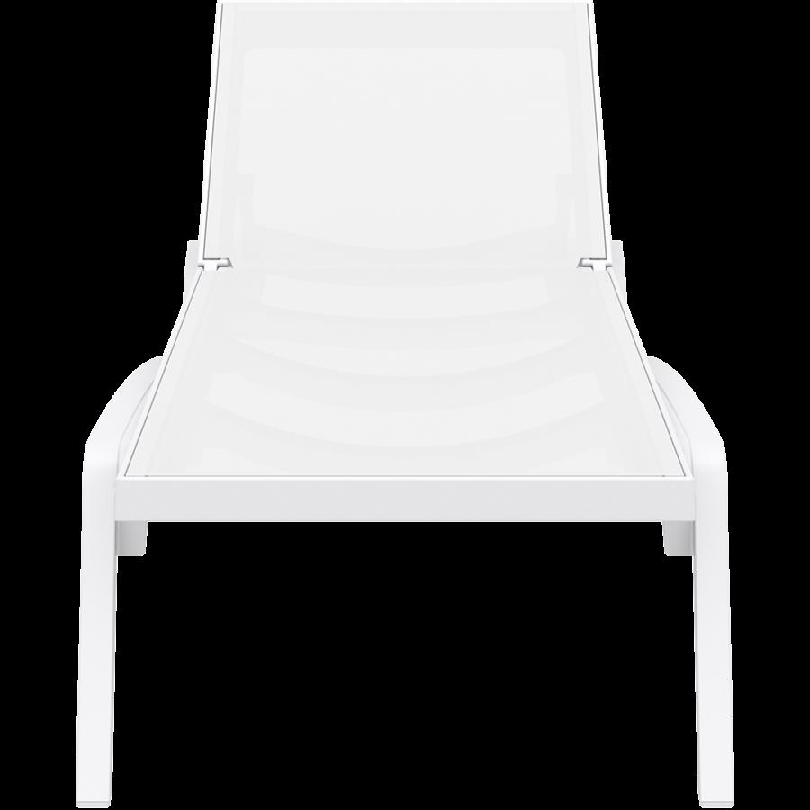Ligbed - Pacific - Wit - Stapelbaar - Verstelbaar - Siesta-2