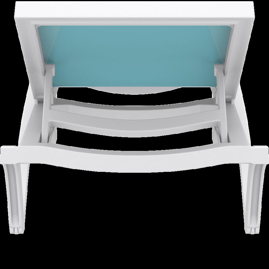 Ligbed - Pacific - Wit - Turquoise - Stapelbaar - Verstelbaar - Siesta-8
