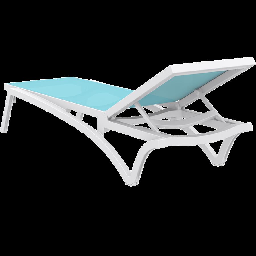 Ligbed - Pacific - Wit - Turquoise - Stapelbaar - Verstelbaar - Siesta-9