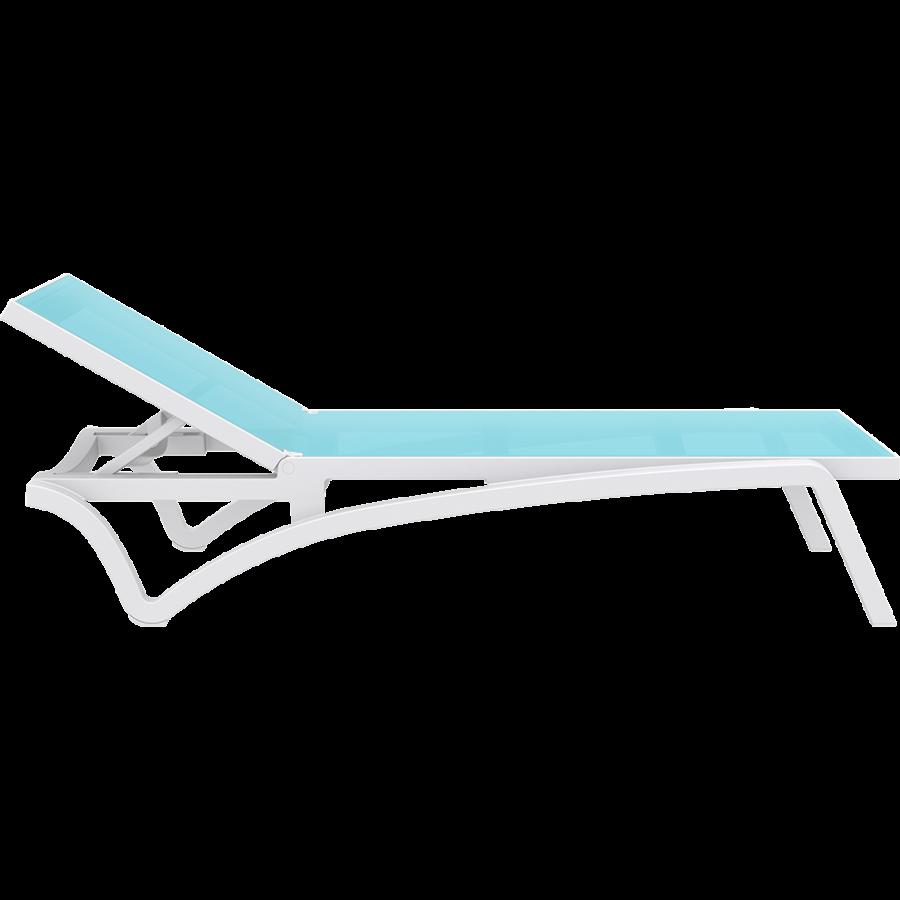 Ligbed - Pacific - Wit - Turquoise - Stapelbaar - Verstelbaar - Siesta-10