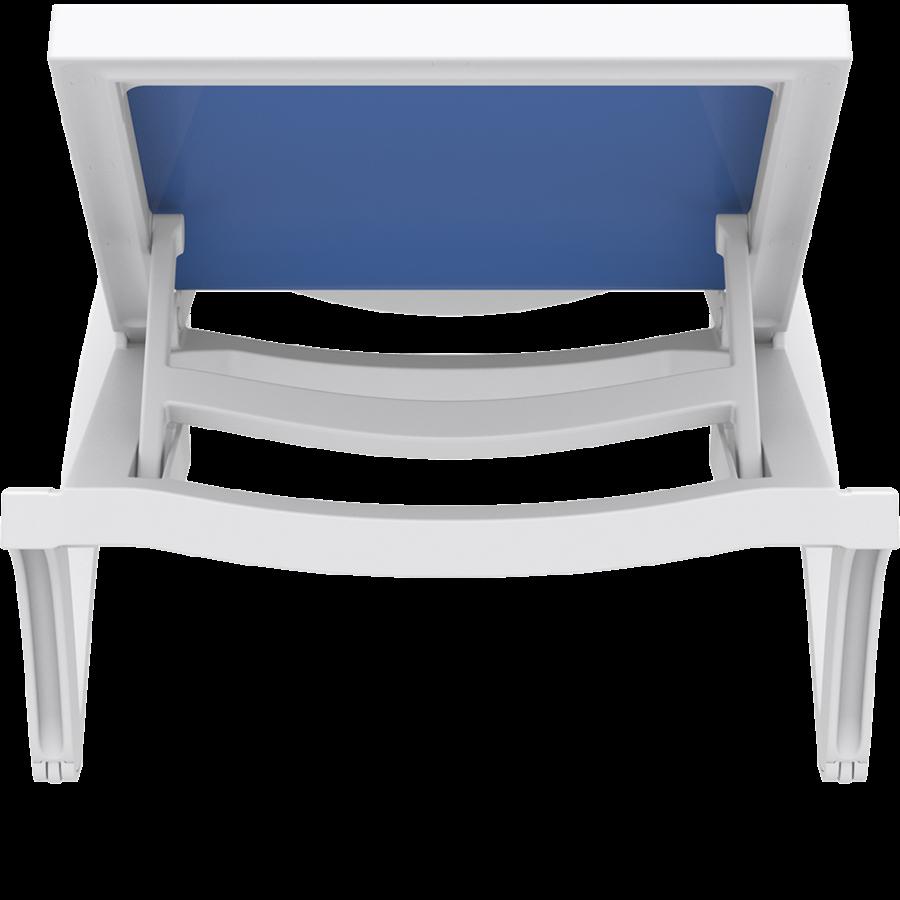 Ligbed - Pacific - Wit - Blauw - Stapelbaar - Verstelbaar - Siesta-8