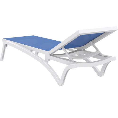 Siesta Exclusive Ligbed - Pacific - Wit - Blauw - Stapelbaar - Verstelbaar - Siesta