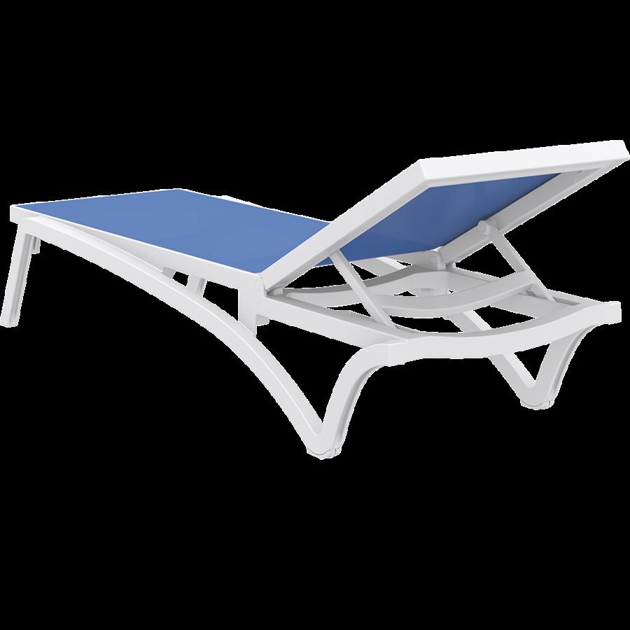 Ligbed - Pacific - Wit - Blauw - Stapelbaar - Verstelbaar - Siesta-9