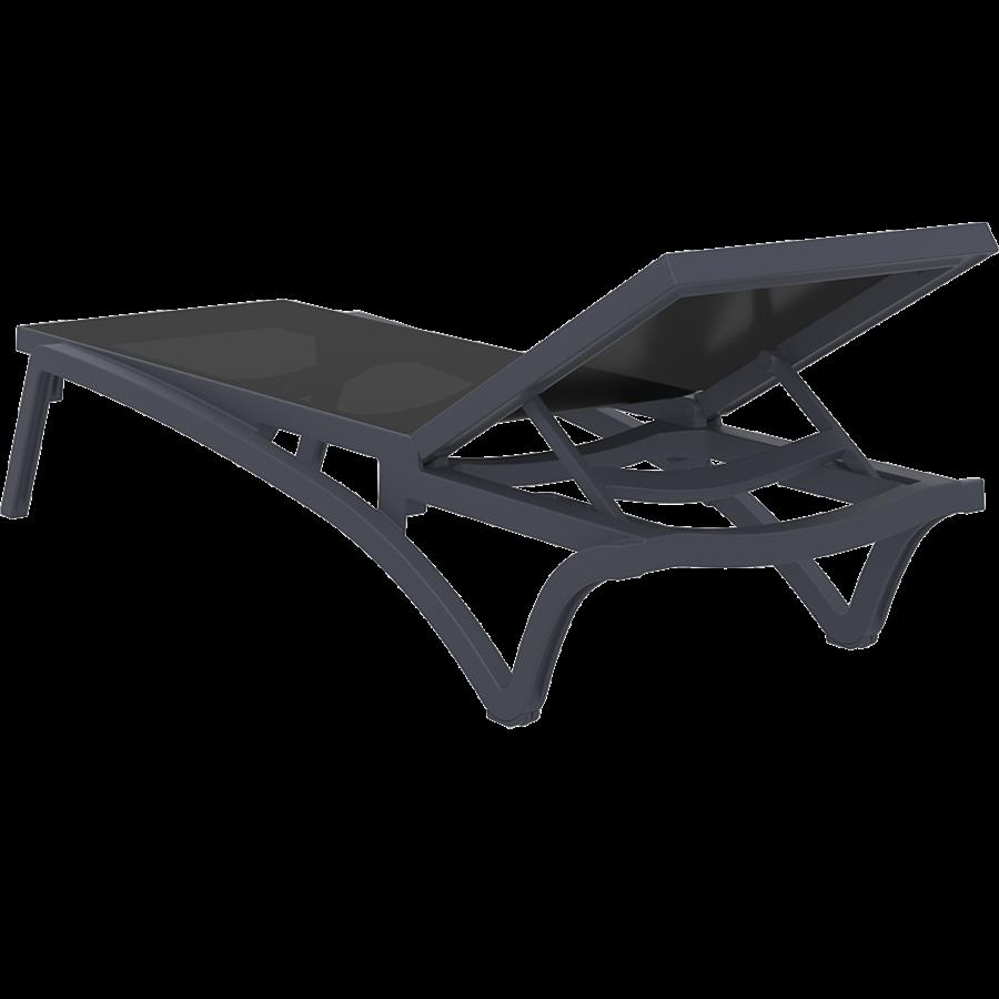 Ligbed - Pacific - Zwart - Donkergrijs - Stapelbaar - Verstelbaar - Siesta-6