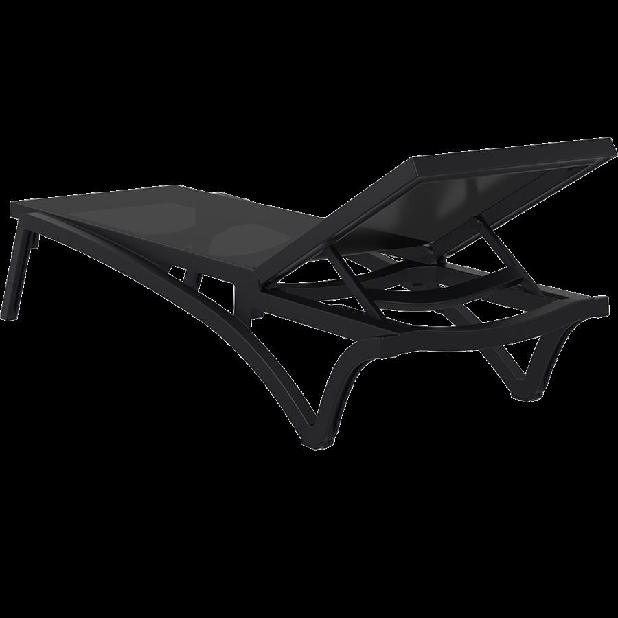 Ligbed - Pacific - Zwart - Zwart - Stapelbaar - Verstelbaar - Siesta-6