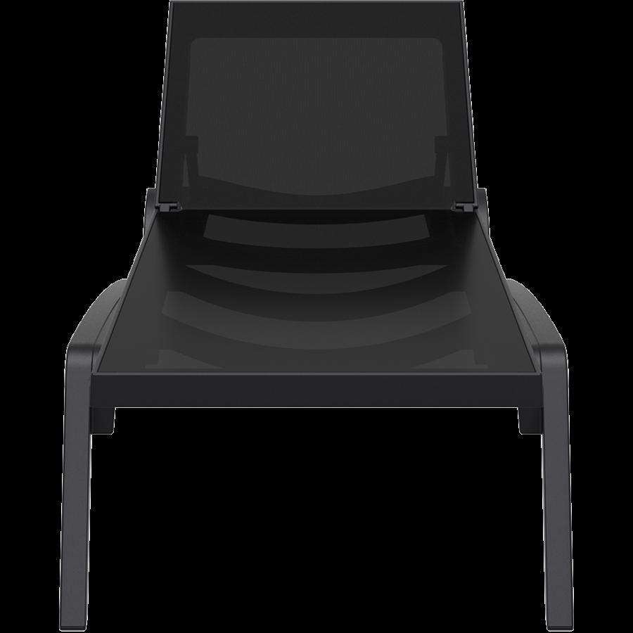 Ligbed - Pacific - Zwart - Zwart - Stapelbaar - Verstelbaar - Siesta-2