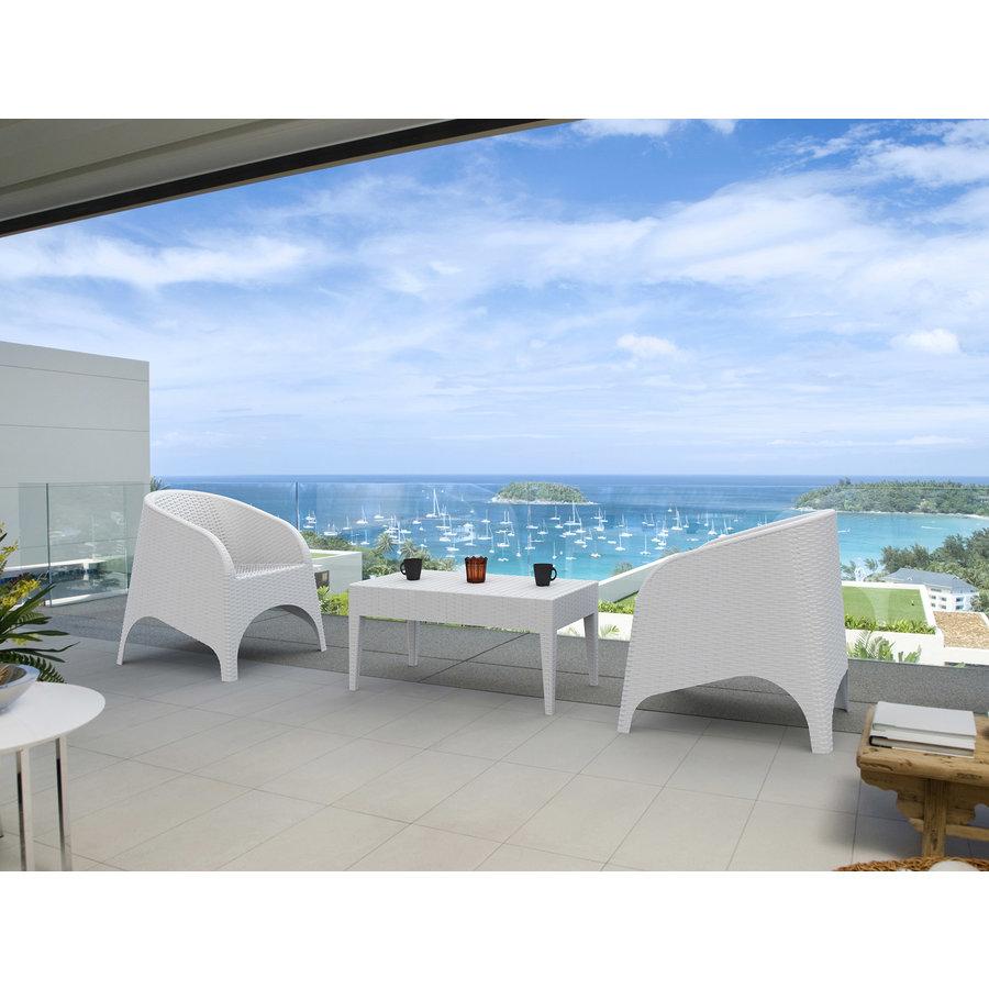 Tuinstoel - Aruba - Wit - Wicker - Siesta-8