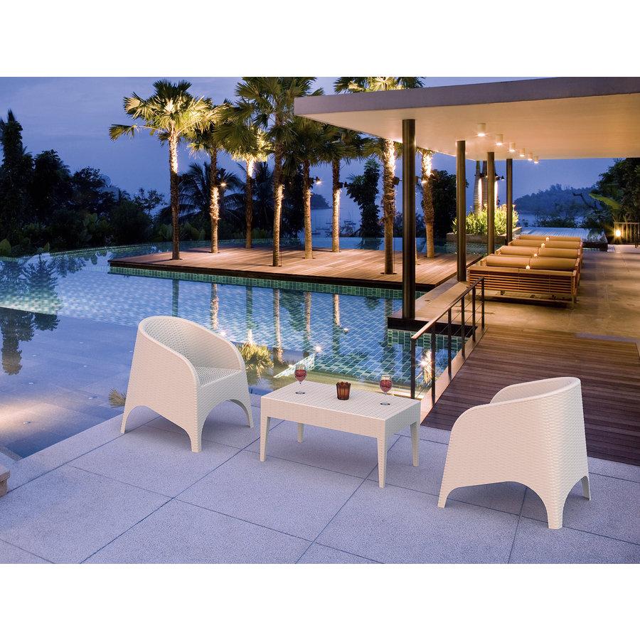 Tuinstoel - Aruba - Wit - Wicker - Siesta-4