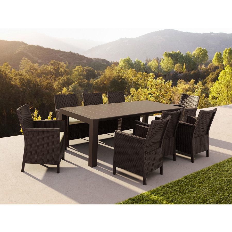Tuinstoel - California - Bruin - Wicker Look - Siesta-5