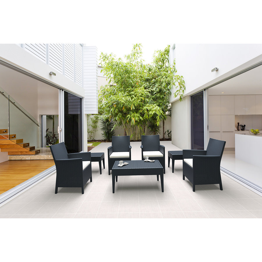 Tuinstoel - California - Donkergrijs - Wicker Look - Siesta-9