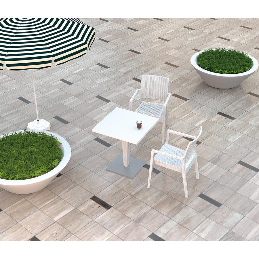 Tuinstoel - Ibiza - Wit - Wicker Look - Siesta-8