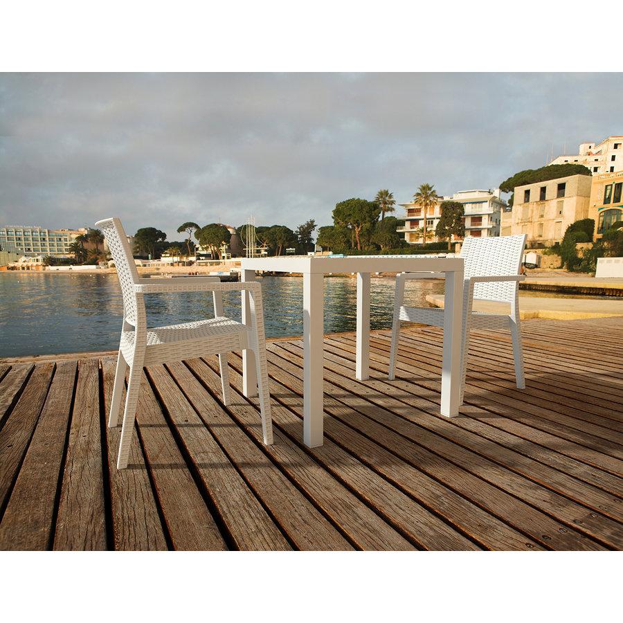 Tuinstoel - Ibiza - Wit - Wicker Look - Siesta-4